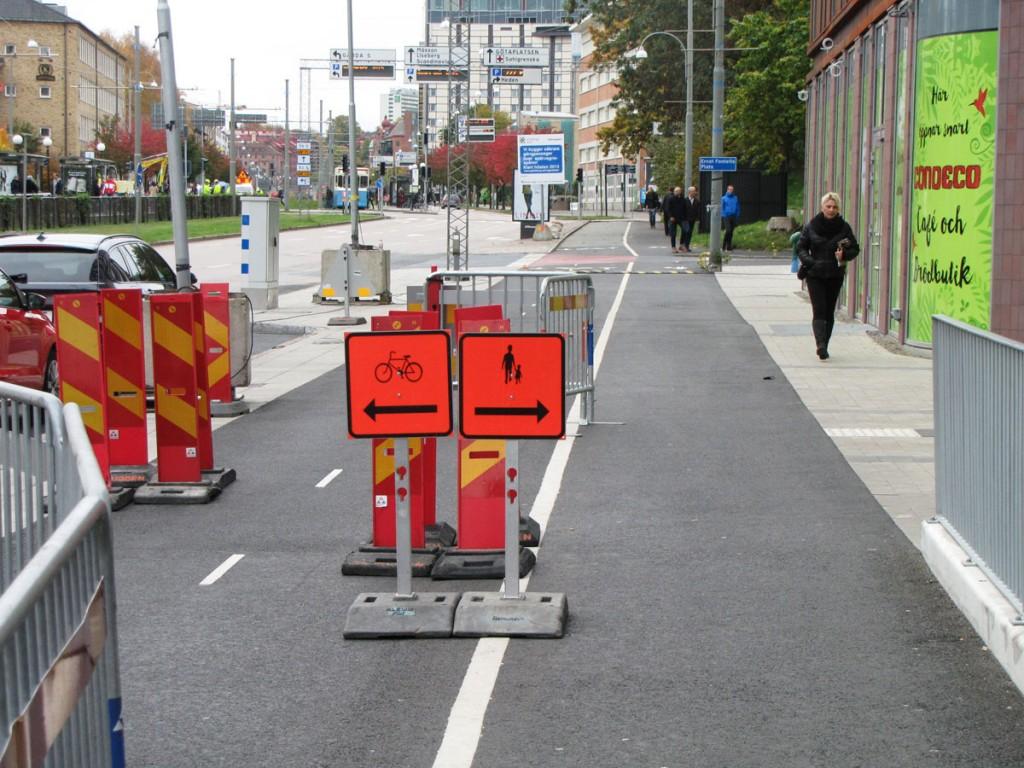 Bra gc-skylt på Skånegatans cykelbana