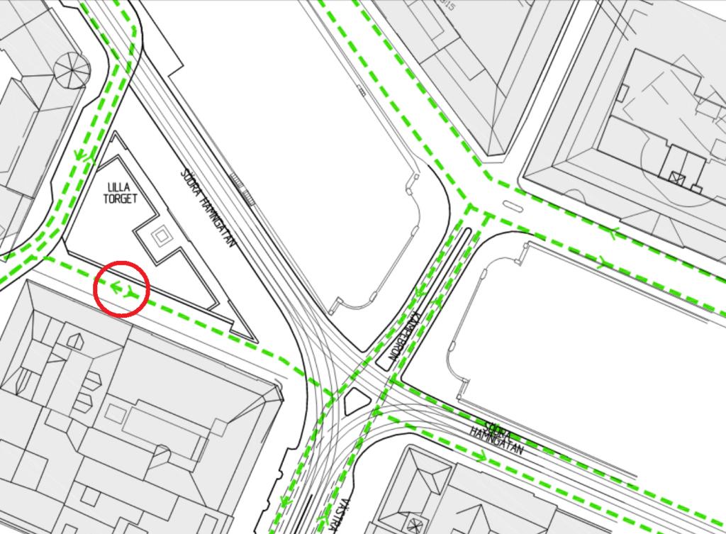 Trafikföringsprinciper Lilla torget 2015-10-23