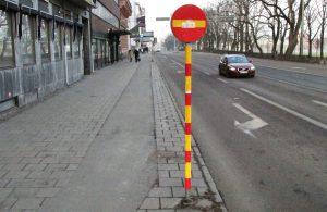 Enkelriktat Södra vägen vid Engelbrektsgatan