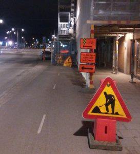Omledning vid Övre Husargatan