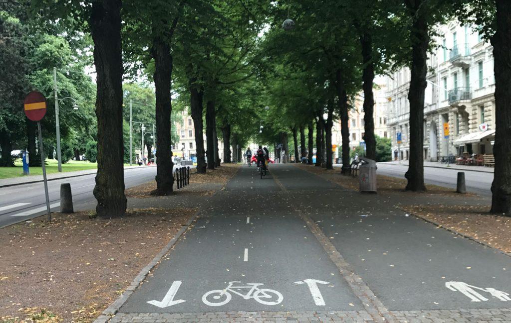 GC-kors på Vasagatan ur cykelperspektiv