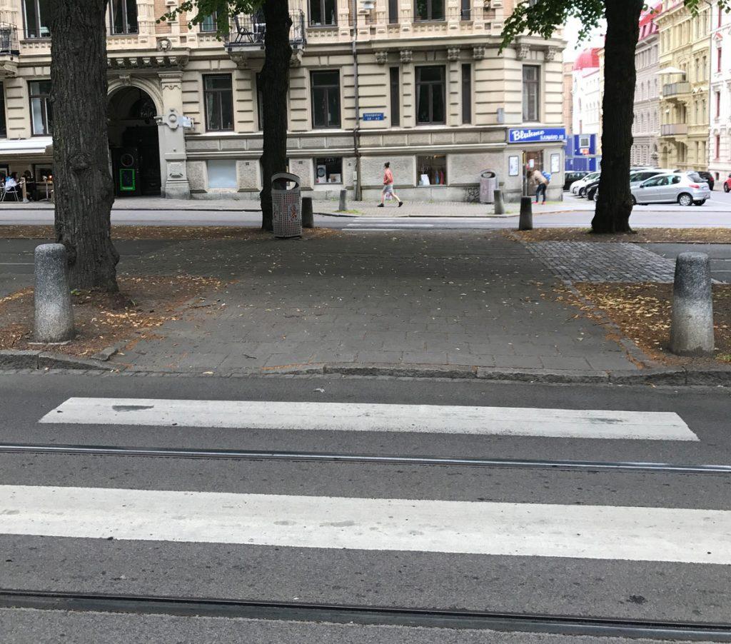 GC-kors på Vasagatan ur gångperspektiv
