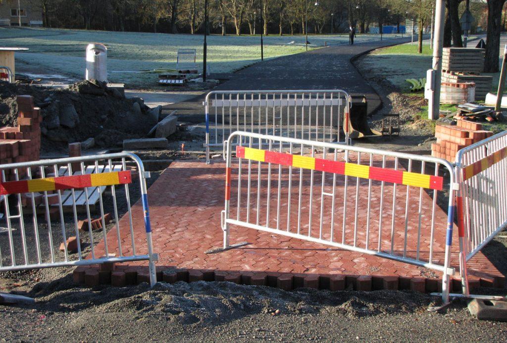 Delsjövägen: Första cykelöverfarten byggs
