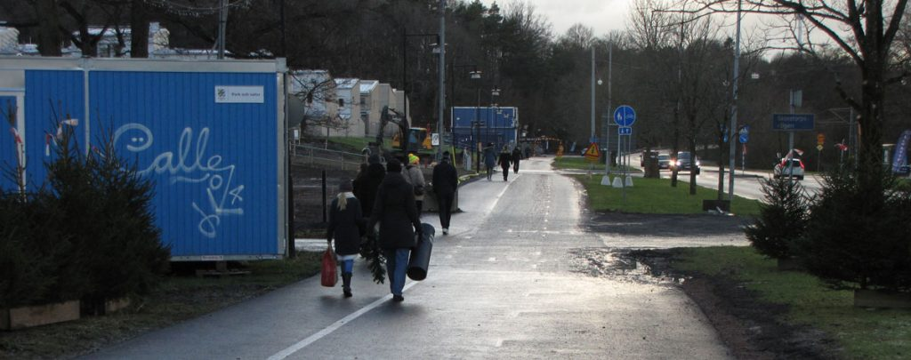 Delsjövägen: Första pendlingscykelbanans bredd