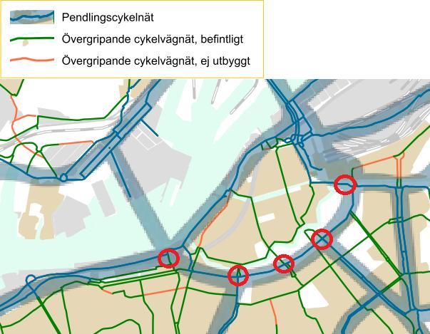 Mätplatser för cykelrött i Allén
