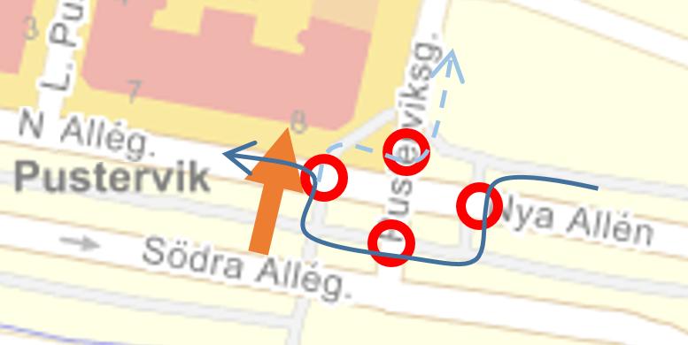 Karta Pusterviks trafikljus