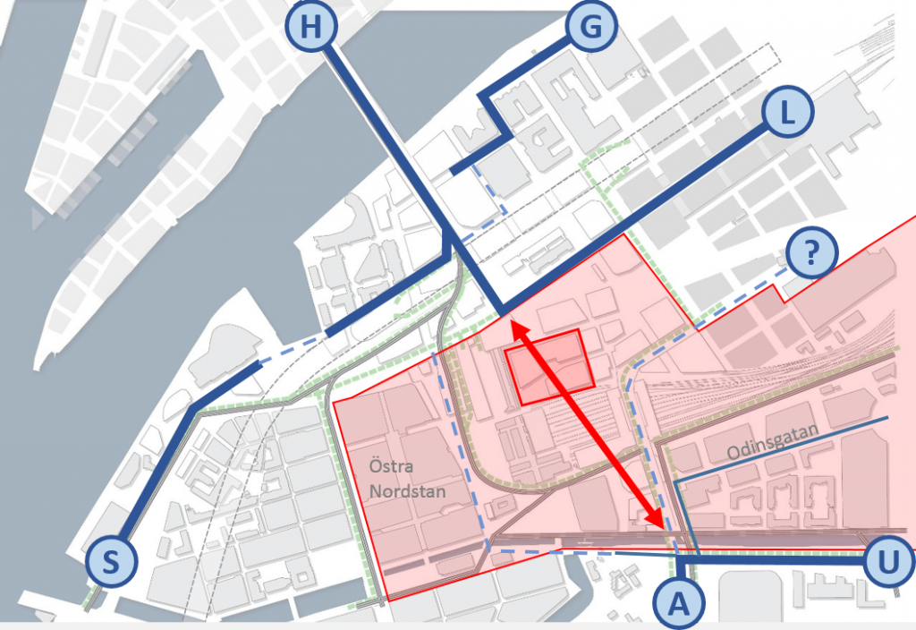 Centralens cykelbarriär