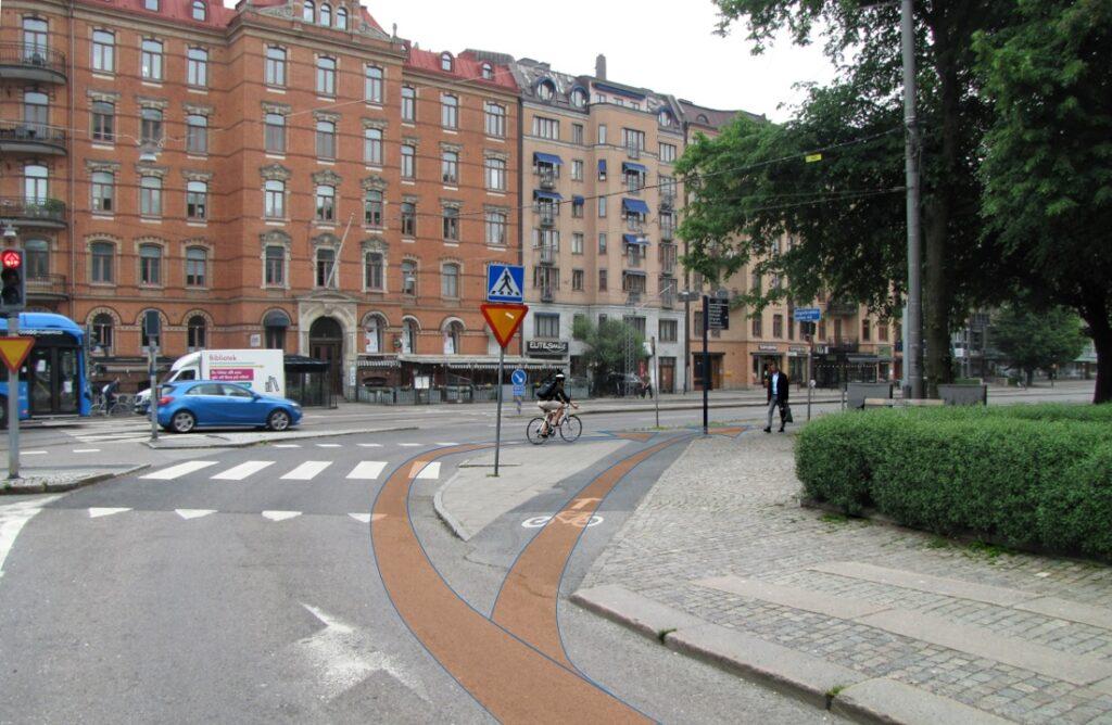 Alternativa gc-korsanden vid Södra Vägen