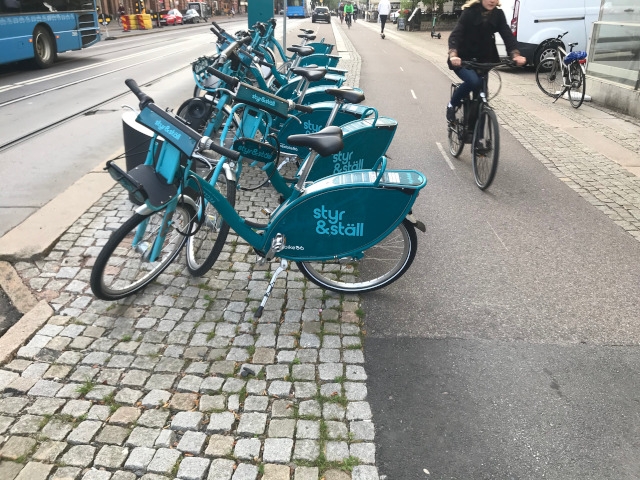 Korsvägen, fler cyklar placeras ut