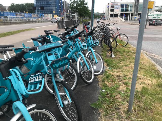 Bara vanliga cyklar kan parkera ordentligt